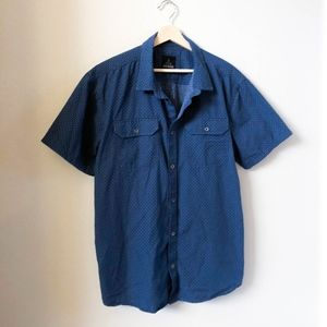 PrAna Blue Casual Button Down Shirt XL